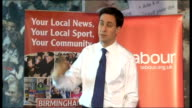 Ed Miliband takes part in QA session with readers of the Birmingham Mail Miliband answering questions SOT On East African drought and famine /...