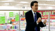 ENGLAND London Clapham INT Ed Miliband MP speech to Asda employees SOT There will be people who would have agreed with the government Labour didn't...