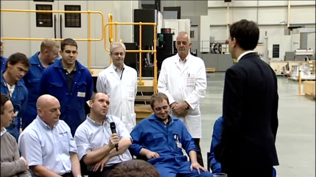 Ed Miliband visits Manthorp Engineering firm Miliband question and answer session SOT I am not interested in the blame game / Reality that govts of...