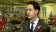 Warwickshire Rugby INT Ed Miliband MP interview SOT On tax rate / Cutting the 50 p tax rate is not the priority for now / We should tax the bonuses...