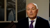 Iain Duncan Smith interview ENGLAND London INT Iain Duncan Smith interview SOT this is a vacuous speech by a party that is so scared stiff of the...
