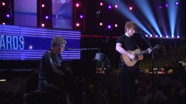 Ed Sheeran Elton John Grammys Performance