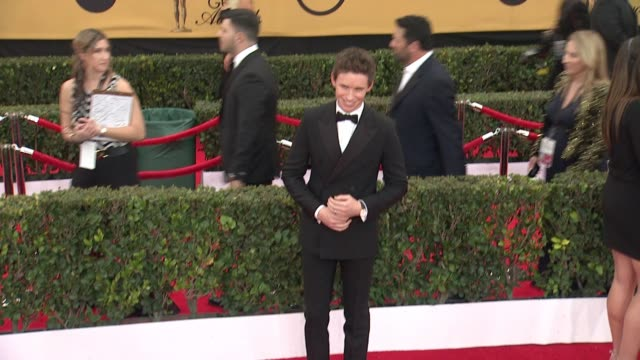 Eddie Redmayne at 21st Annual Screen Actors Guild Awards Arrivals in Los Angeles CA