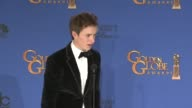 SPEECH Eddie Redmayne at the 72nd Annual Golden Globe Awards Press Room at The Beverly Hilton Hotel on January 11 2015 in Beverly Hills California