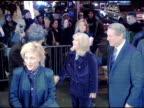 Edie Falco Tipper Gore and Al Gore at the 'Three Burials of Melquiades Estrada' New York Premiere at the Paris Theater in New York New York on...