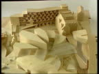 Edinburgh Model of new Scottish Parliament building Deyan Sudjic interview SOT This is a symbolic highly charged building David McLetchie MSP...