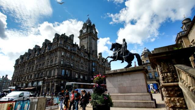 Edinburgh, Schottland, UK Zeitraffer