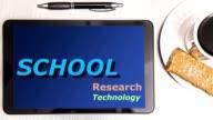 Bildung - Back to School - Wort-Wolken