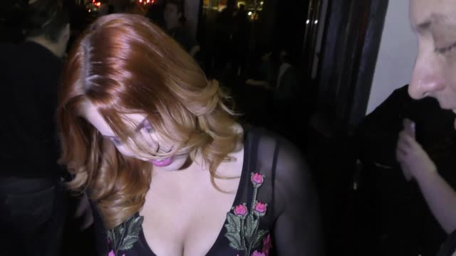 Edyn Blair greets fans arriving to the AVN Awards Nomination Party at Avalon Nightclub on November 17 2016 in Hollywood California