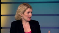 Effect of possible Lloyds bailout on house prices ENGLAND London INT Melanie Bien interview SOT