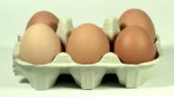 Eier in Kartonverpackung, HD