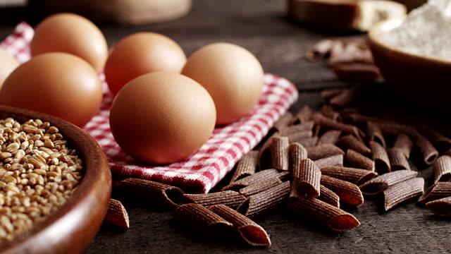 Eggs, pasta, flour...