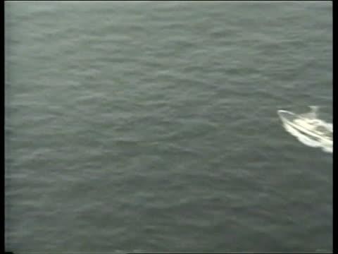 Egyptair plane crash POOL Coast Guard ships at sea PULL OUT AIR VIEW Coast Guard ship along AIR VIEW Another ZOOM AIR VIEW Coast Guard vessel along...