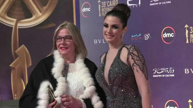 Egyptian and Arab movie stars attended the 39th Cairo Film Festival opened on Tuesday featuring 175 films from 53 countries