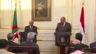 Egyptian Foreign Minister Sameh Shoukry met with his Algerian counterpart Abdelkader Messahel at Tahrir Palace in Cairo on Wednesday where they...