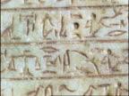 Egyptian Scarab Beetle Prayer Stone, CU part of stone, hieroglyphics, England