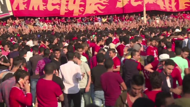 Egypt's Al Ahli football team canceled their final training session Tuesday because of the massive crowds that disrupted the players arrival to the...