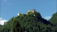 WS LA PAN Ehrenberg castle ruins on top of mountain, Tyrol, Austria