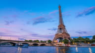 Eiffel Tower as seen from across Seine river