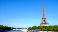 Eiffel tower in Paris, France - Stock Video - Stock Video