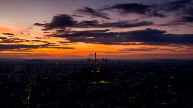 Eiffel tower in Paris, France - Stock Video