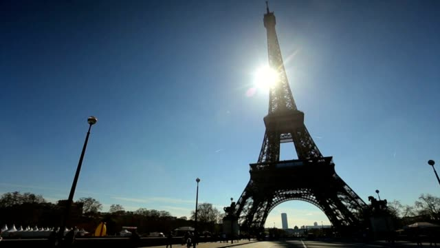 Eiffel Tower pan camera HD