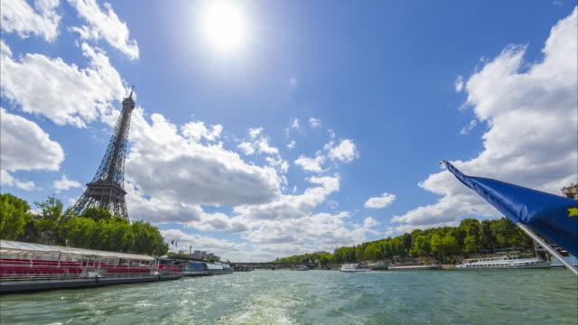Eiffel Tower seen from River Seine.