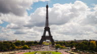 Eiffel tower timelapse HD video.