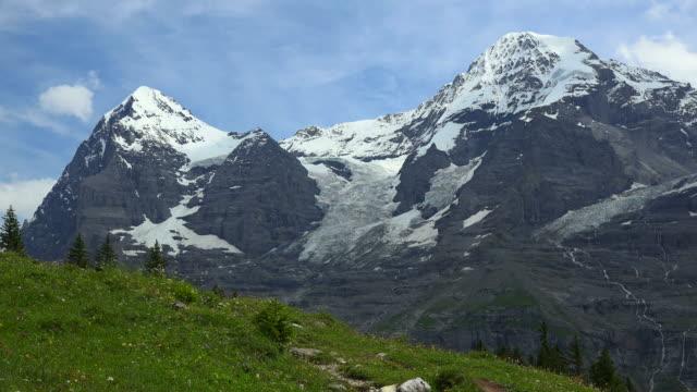 Eiger and Monch, Bernese Alps, Switzerland, Europe