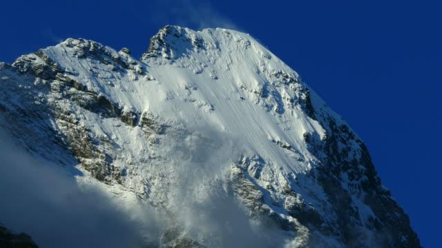 Eiger in morning sun, Grindelwald, Bernese Alps, Switzerland, Europe