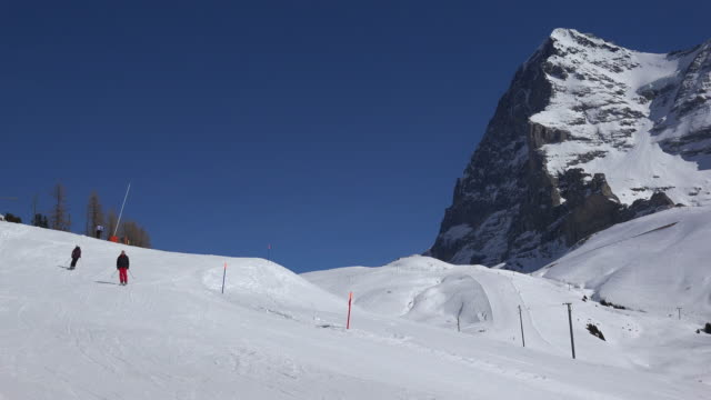 Eiger, seen from Kleine Scheidegg, Bernese Alps, Switzerland, Europe