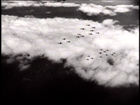 Eighth Air Force fighters and bombers beginning mission against Mannheim Germany / United Kingdom