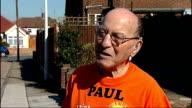 Eightysixyearold man to run London Marathon INT Running medals framed and hanging on wall Freedman interview SOT