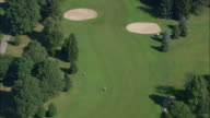 AERIAL Eisenhower Park Golf Course / East Meadow, New York, USA