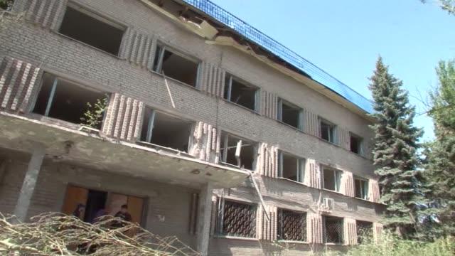 El bastion rebelde de Donetsk en el este de Ucrania sufrio este miercoles su primer ataque aereo