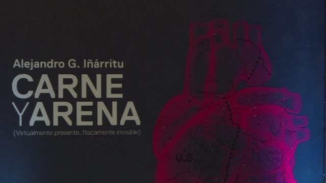 El director ganador del Oscar Alejandro Gonzalez Inarritu presento en Mexico una instalacion sobre la migracion con la que a traves de realidad...