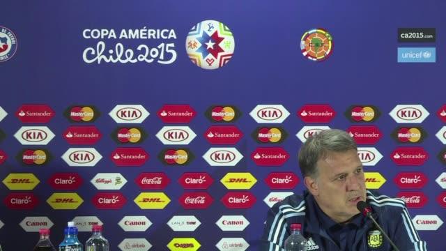 El DT de la seleccion argentina Gerardo Martino dijo la vispera de las semifinales de la Copa America que hubiera preferido no medirse ante Paraguay...