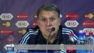 El entrenador de Argentina Gerardo Martino asegura que su seleccion debio haber ganado la final de la Copa America ante Chile