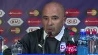 El entrenador de Chile Jorge Sampaoli aseguro estar emocionado por la victoria de su equipo en la Copa America y agradecio a sus jugadores su...