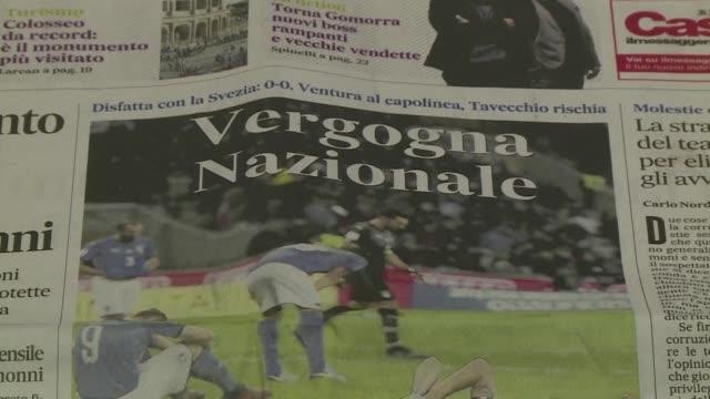 El ministro italiano de Deportes Lucca Lotti apelo el martes a una refundacion de todo el futbol italiano un dia despues de la eliminacion de Italia...