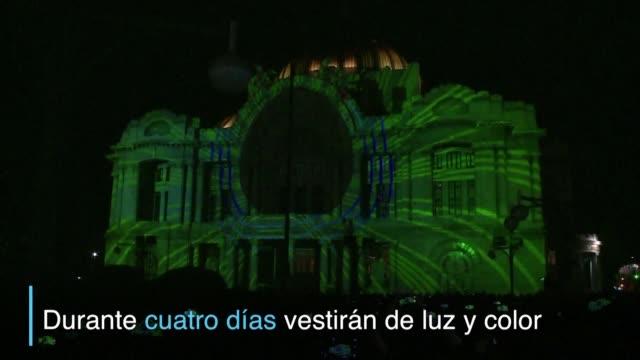 El palacio de Bellas Artes entre otros edificios emblematicos de Ciudad de Mexico se convirtio en lienzo para el Festival Internacional de las Luces...