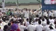El papa Francisco beatifico este sabado en Seul a 124 martires coreanos en presencia de centenares de miles de fieles