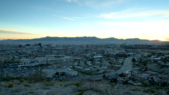 El Paso, Texas e Ciudad de Juarez Chijuajua tramonto