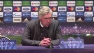 El presidente del Real Madrid Florentino Perez dijo este jueves que Carlo Ancelotti seguira al frente del equipo a pesar de las criticas por el mal...