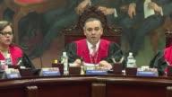 El presidente del Supremo Tribunal de Justicia venezolano Maikel Moreno condeno el miercoles el ataque aereo contra la sede del poder judicial y...