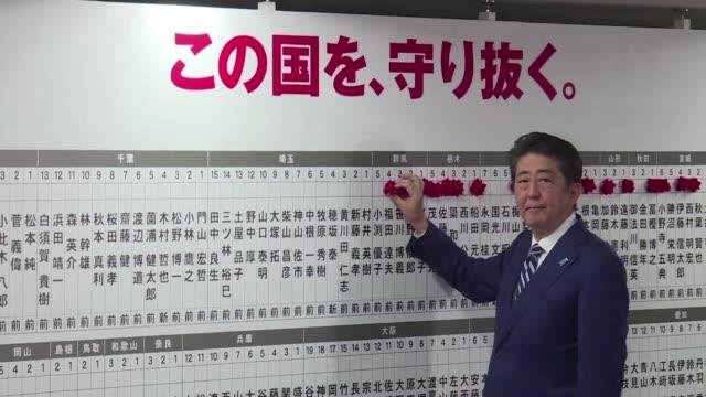 El primer ministro Shinzo Abe obtuvo el domingo una amplia mayoria en las elecciones legislativas anticipadas tras una campana centrada en la amenaza...