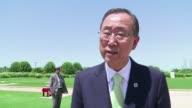 El secretario general de la ONU Ban Ki moon ofrecio su mediacion para encontrar una solucion a la crisis en Ucrania en una declaracion este lunes a la