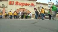 KTLA 'El Super' Grocery Store Protest on October 28 2015 El Grocery Store grocery store workers and supporters protesting