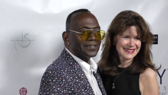 Elaine Mellis and Randy Jackson at The 2017 Open Hearts Gala at SLS Hotel on October 21 2017 in Beverly Hills California