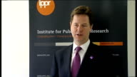 Nick Clegg speech on AV Nick Clegg speech SOT AV simply updates our voting system to give people more power and more choice / But as with almost all...